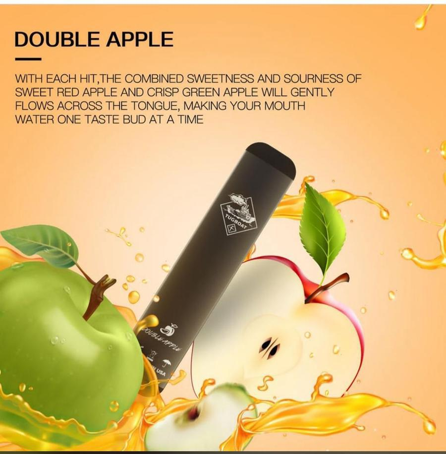 Authentic Double Apple by Tugboat Disposable Pods – V2 (Pack of 3!)
